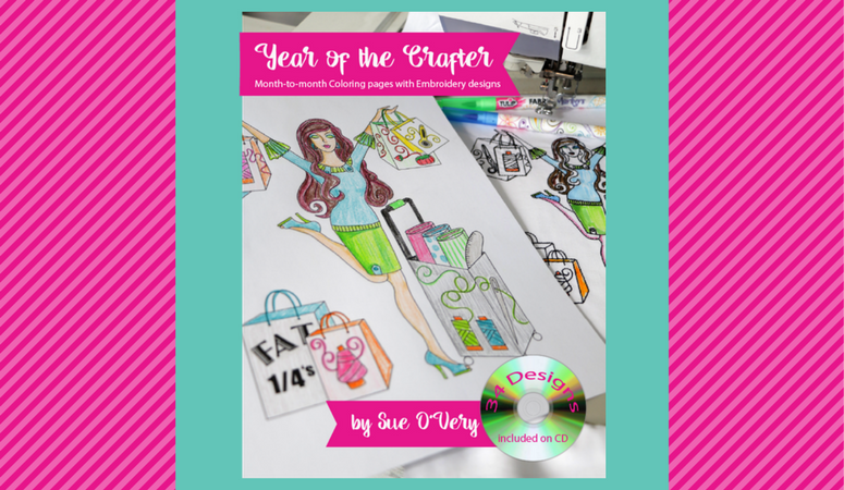 year of the crafter, coloring book with bonus cd machine embroidery designs