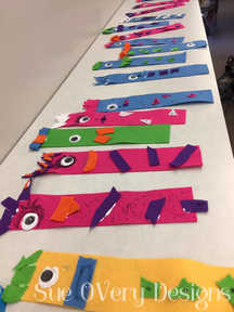 How to make a Monster Felt bookmark - kids crafts - easy crafts - felt crafts, diy felt monster bookmark