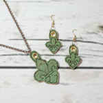 T92_fleur de lis necklace and earrings_jewelry_Charms