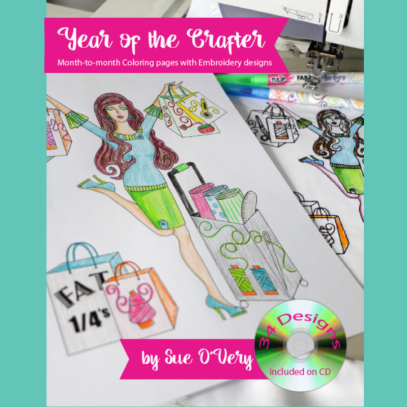 Year of the Crafter - coloring book and CD with machine embroidery designs -02