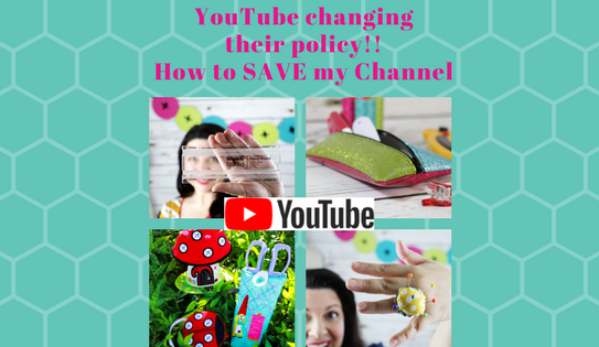 YouTube has changed their program – How to help me bring you FREE DIY videos from Sue O'Very Designs YouTube channel