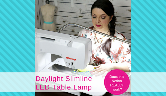 YT - how to use the Slimline LED table lamp, slimeline, daylight company, LED table lamp, best LED lamp, sewing lamp, quilting lamp, Does this notion really work?