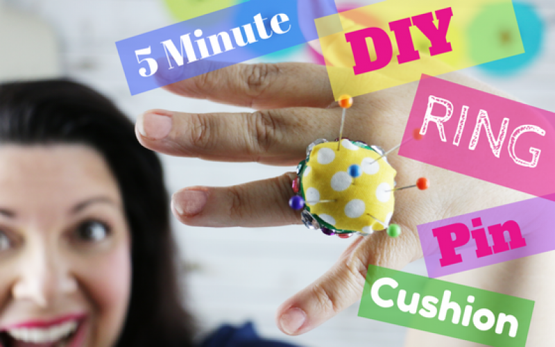 560×350 – 5 minute FREE, Easy, Fast and Super Glamours DIY Ring Pin Cushion – how to make a ring pin cushion – ring pin cushion