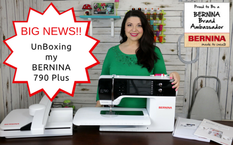 560×350 – NEW BIG Amazing Exclusive news! Announcing something exciting – Surprise, I'm officially a BERNINA Ambassador – How to UnBox the BERNINA 790 Plus