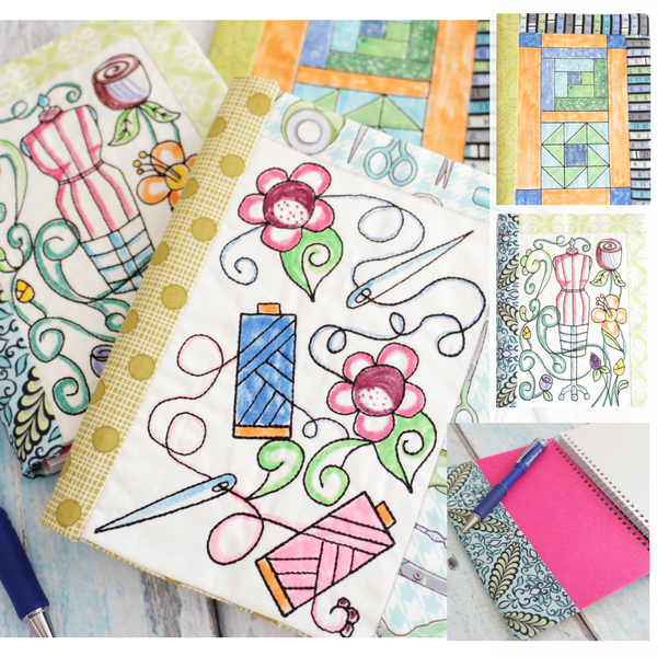 Coloring Book Notebook Cover In The Hoop Sewing Set