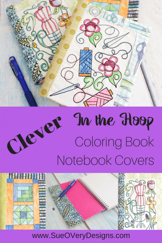 Book Cover Sewing Expo : Sewing themed coloring book notebook covers in the hoop