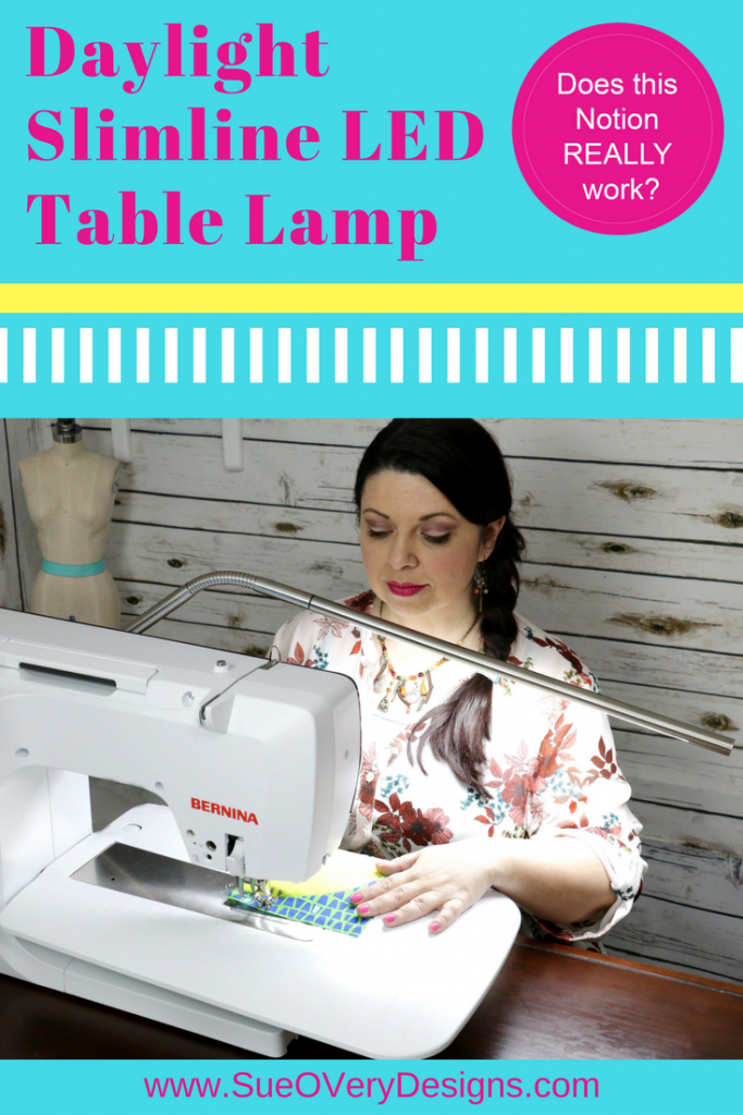 how to use the Slimline LED table lamp, slimeline, daylight company, LED table lamp, best LED lamp, sewing lamp, quilting lamp, Does this notion really work_
