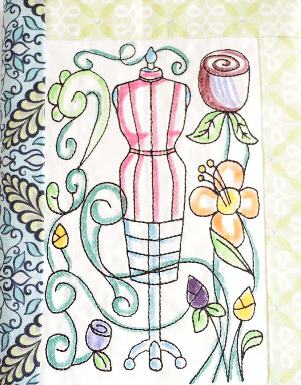 Coloring Book Notebook Cover In The Hoop
