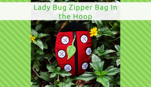 Adorable Lady Bug Zipper Bag, Machine Embroidery In the Hoop
