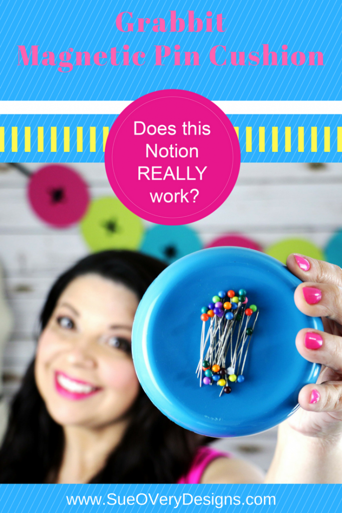 How to use the grabbit magnetic pin cushion, magnetic pin cushion, sewing notion, Does this notion really work