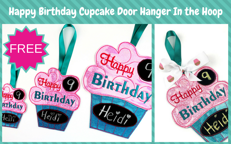 800×500 happy birthday door hanger in the hoop