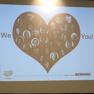 BERNINA UNIVERSITY 2018 Ambassador training