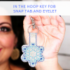 Easy to make In the Hoop Key Fobs – Snap Tabs and Eyelet Key Fobs
