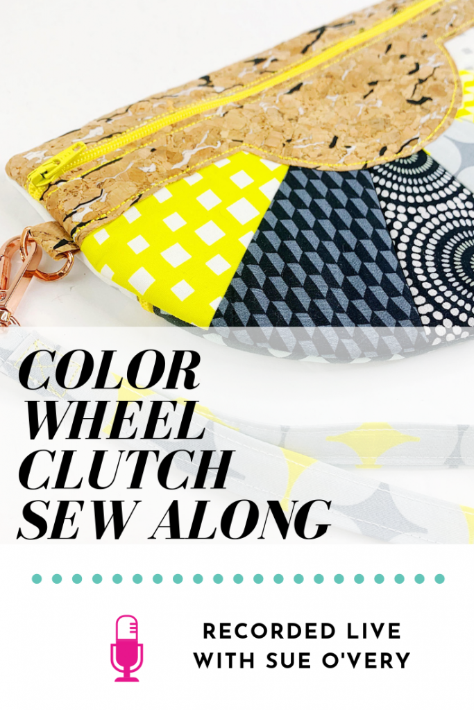 pt color wheel clutch in the hoop sew along with sue overy