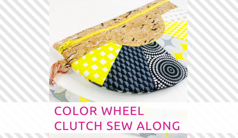 Color Wheel Clutch Sew Along – In the Hoop Zipper Clutch