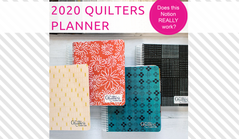Quilters Planner 2020 – Customize yours today