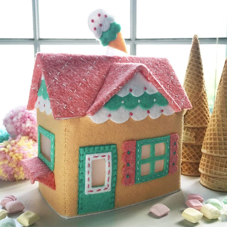 Lil' Felt Village Make-along Club, betz white, felt house, how to make a felt house, crafting with felt, sewing with felt