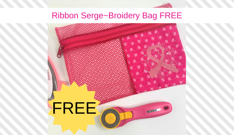 FREE Serge~Broidery Zipper Bag