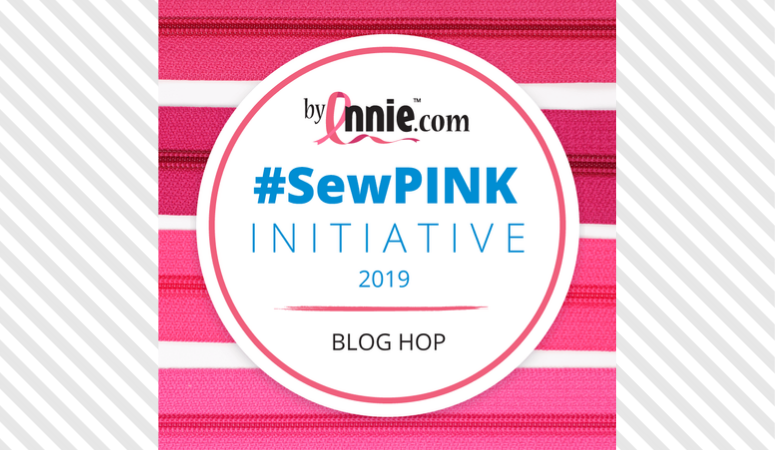 #SewPink Initiative Serge~Broidery Zipper Bag