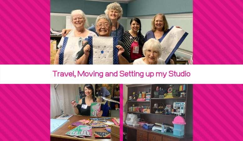 Moving, Travel and Setting up my Studio – 2019 PIQF and 2019 Fall Quilt Market