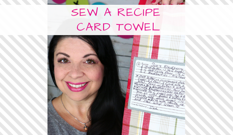 How to Sew a Recipe Card Towel