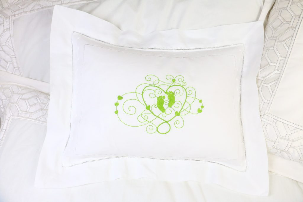 how to embroider on a pillowcase and pillow sham