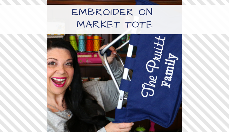 How to Embroider a Market Tote from All About Blanks